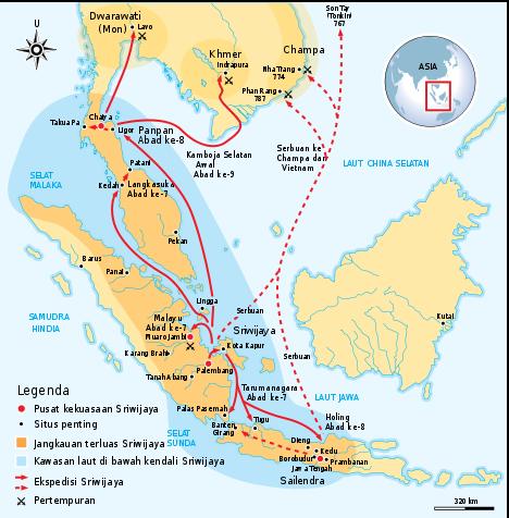 From Wikipedia - Sriwijaya kingdom coverage